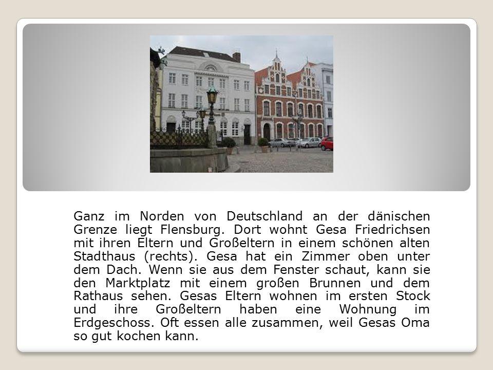 Ganz im Norden von Deutschland an der dänischen Grenze liegt Flensburg.