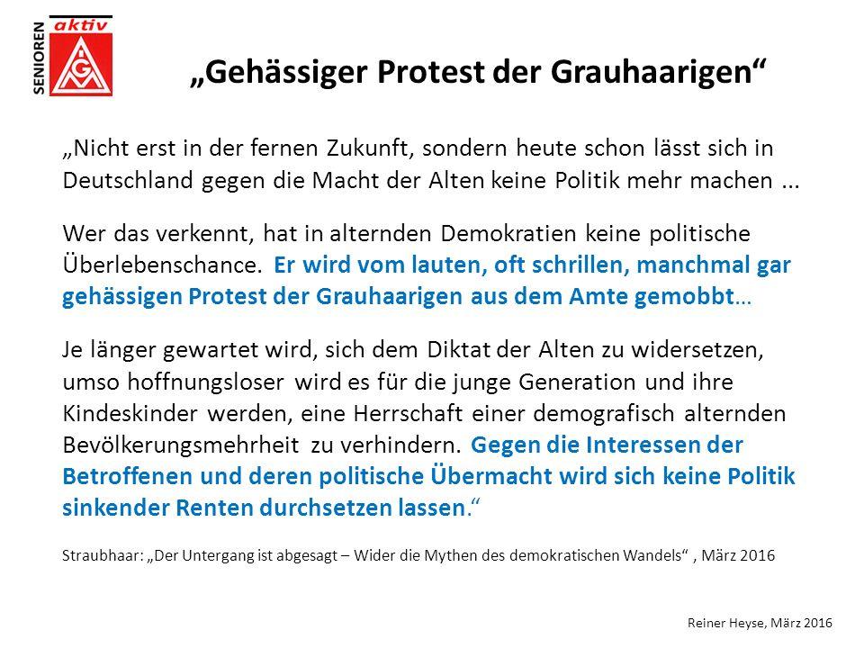 """""""Nicht erst in der fernen Zukunft, sondern heute schon lässt sich in Deutschland gegen die Macht der Alten keine Politik mehr machen..."""