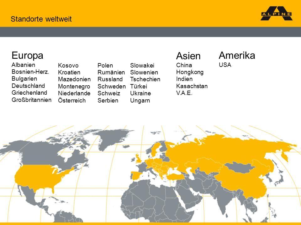 27. Mai 20162009 © ALPINE Bau GmbH Standorte weltweit Europa Albanien Bosnien-Herz.