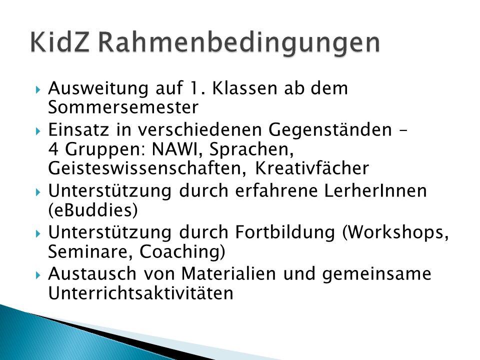  KidZ ist ein Entwicklungsprojekt – Erfahrungen müssen erst eingebracht und gesammelt werden  Es besteht kein Zeit- und Leistungsdruck – jede/r wie er/sie kann