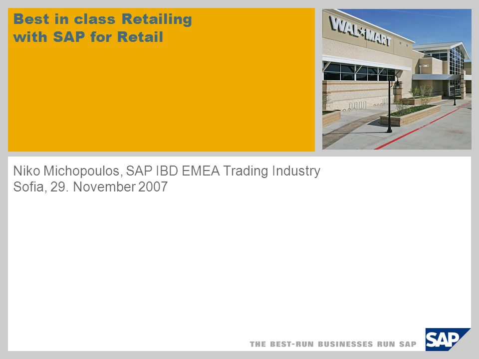 © SAP 2007 / Page 12 One Integrated Platform for Vendors and Multi - Channel Formats Retailer VendorsConsumers Stores B2B Wholesale RFID EDI Crossdocking CPFR Import Management Tracking & Tracing Call Center Franchise Category Management