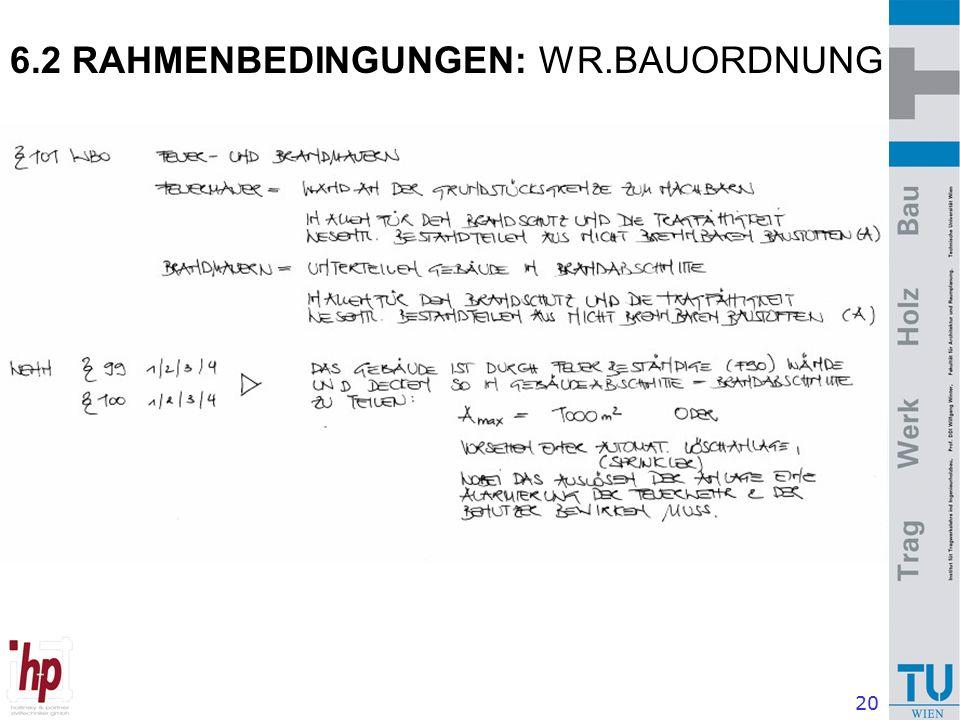 20 6.2 RAHMENBEDINGUNGEN: WR.BAUORDNUNG