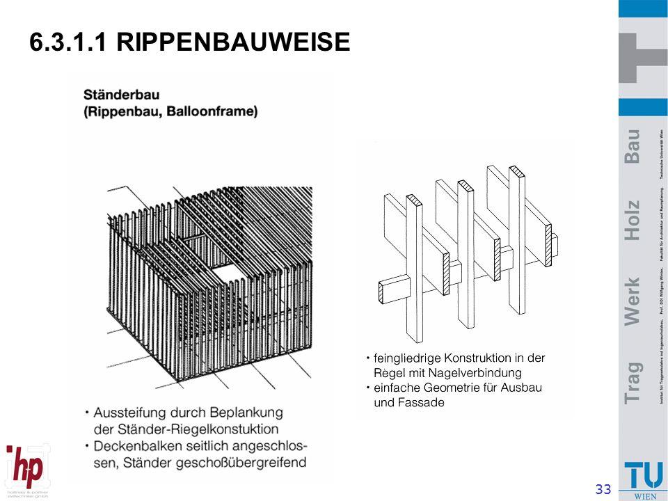 33 6.3.1.1 RIPPENBAUWEISE