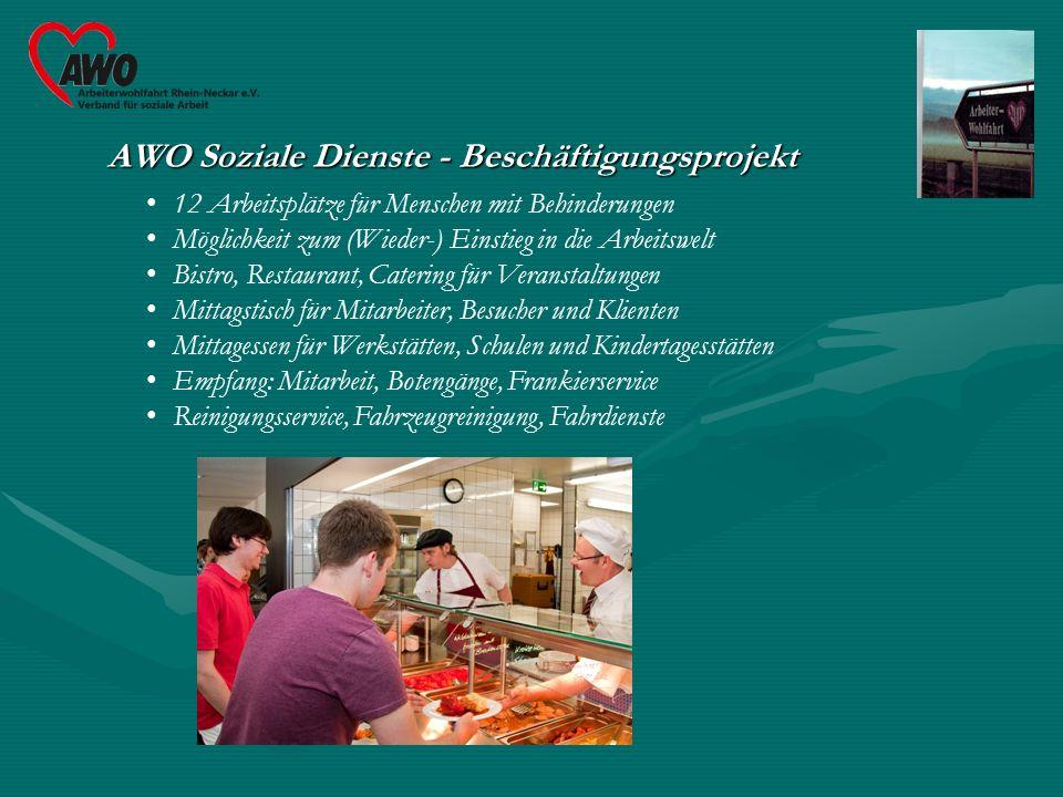 AWO Soziale Dienste Alles unter einem Dach TrainingswohnenKinderkrippe 8 Wohnungen für behinderte Menschen20 Plätze für Kinder (U 3) im 1.