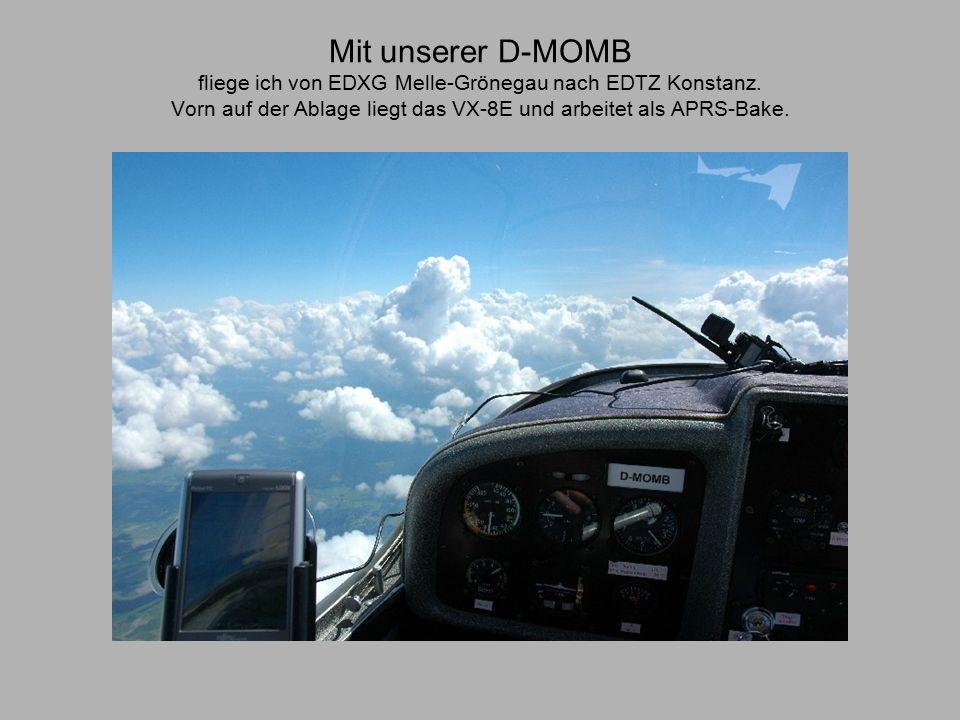 Mit unserer D-MOMB fliege ich von EDXG Melle-Grönegau nach EDTZ Konstanz.