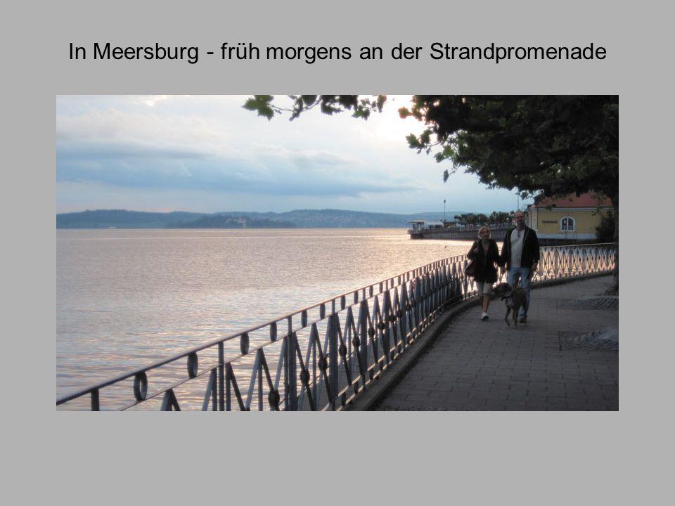 In Meersburg - früh morgens an der Strandpromenade