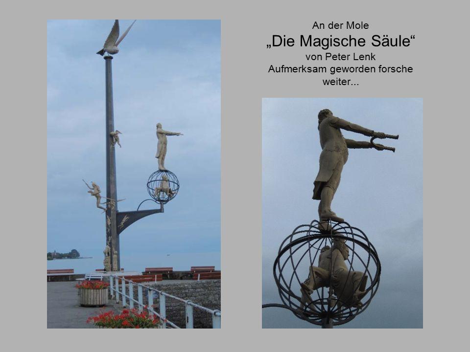 """An der Mole """"Die Magische Säule von Peter Lenk Aufmerksam geworden forsche weiter..."""