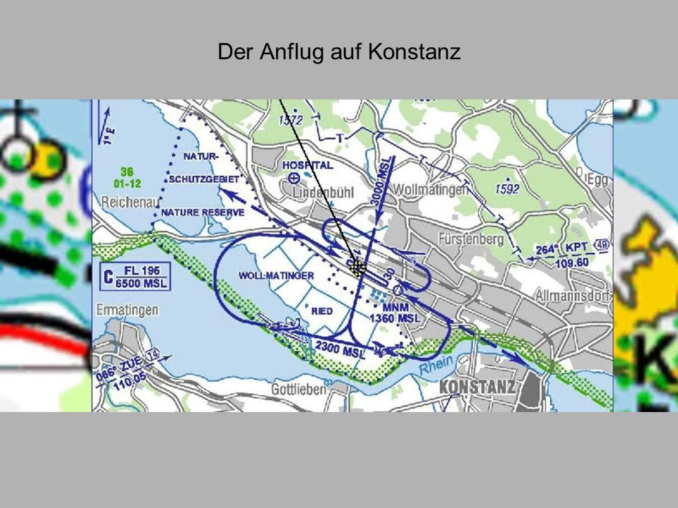 Der Anflug auf Konstanz