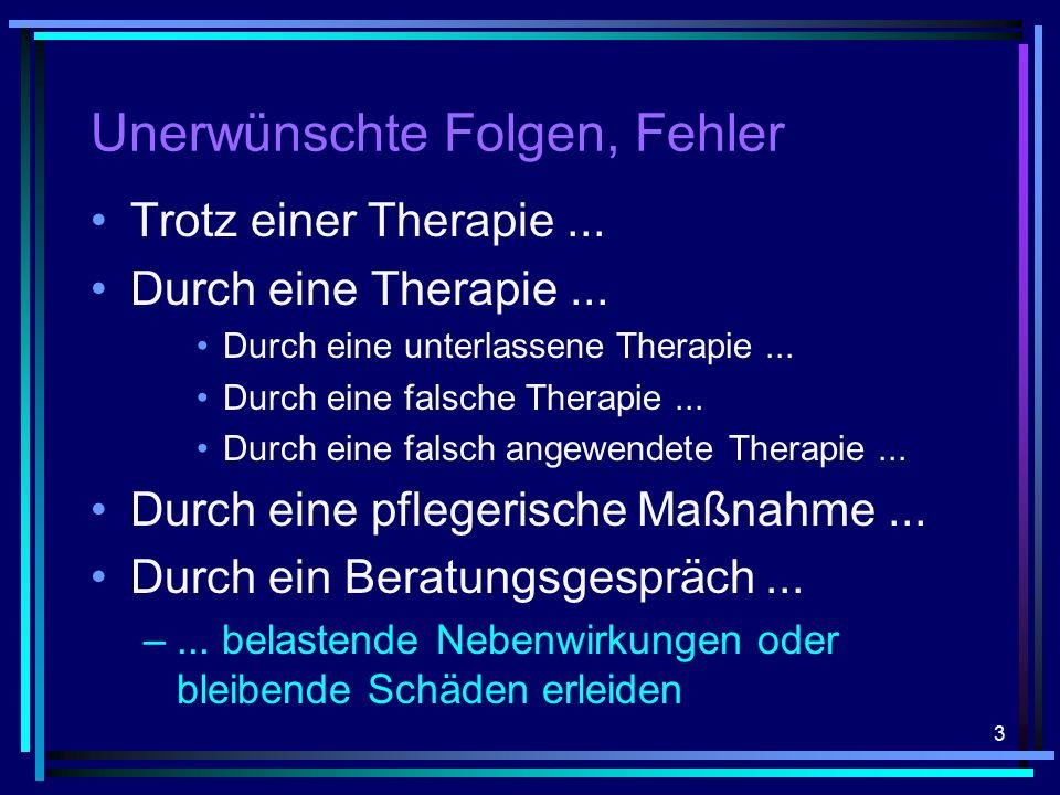 3 Unerwünschte Folgen, Fehler Trotz einer Therapie...