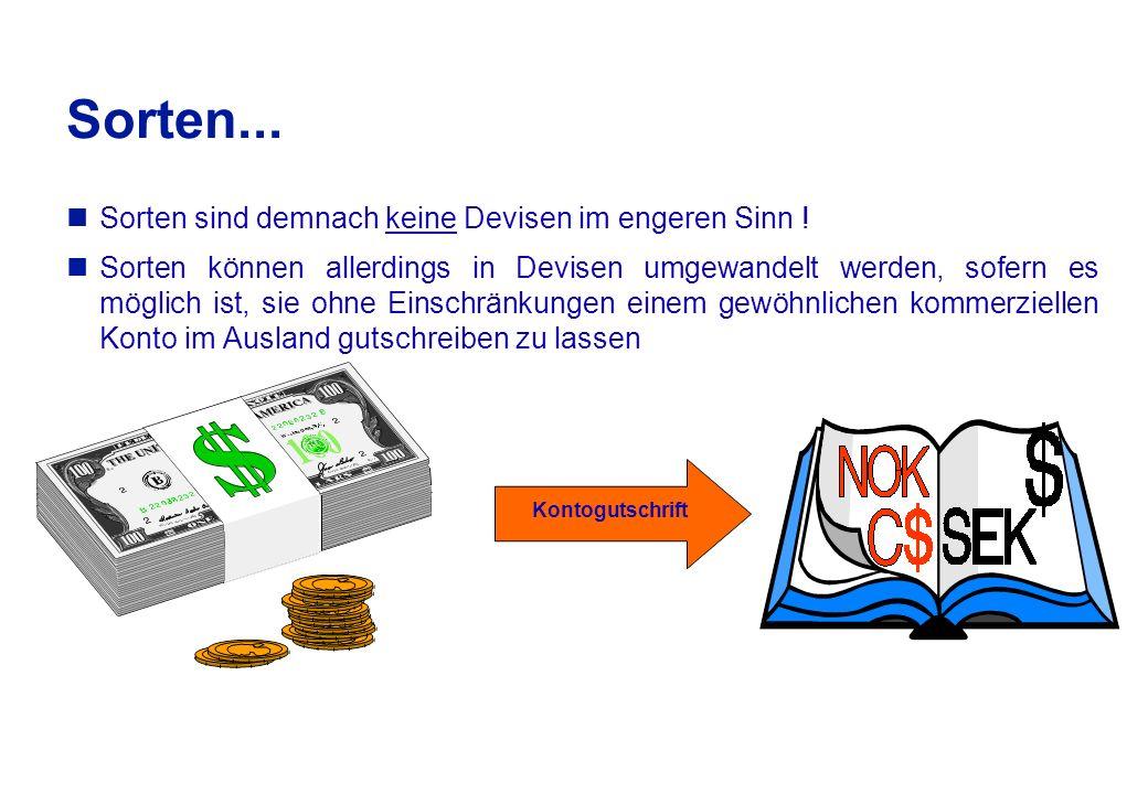 Im Geschäftsverkehr der Banken wird unterschieden nach...
