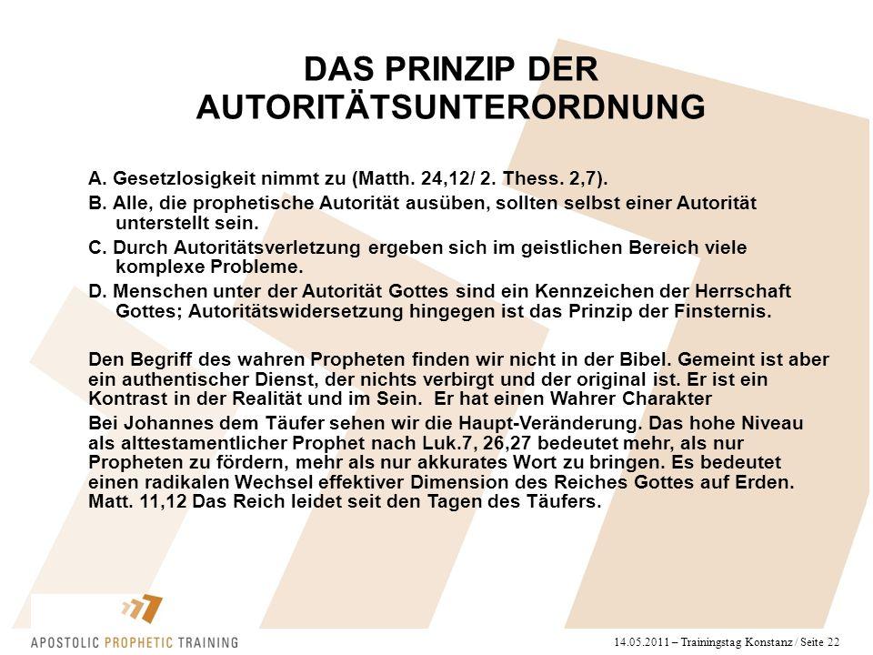 14.05.2011 – Trainingstag Konstanz / Seite 22 A. Gesetzlosigkeit nimmt zu (Matth.