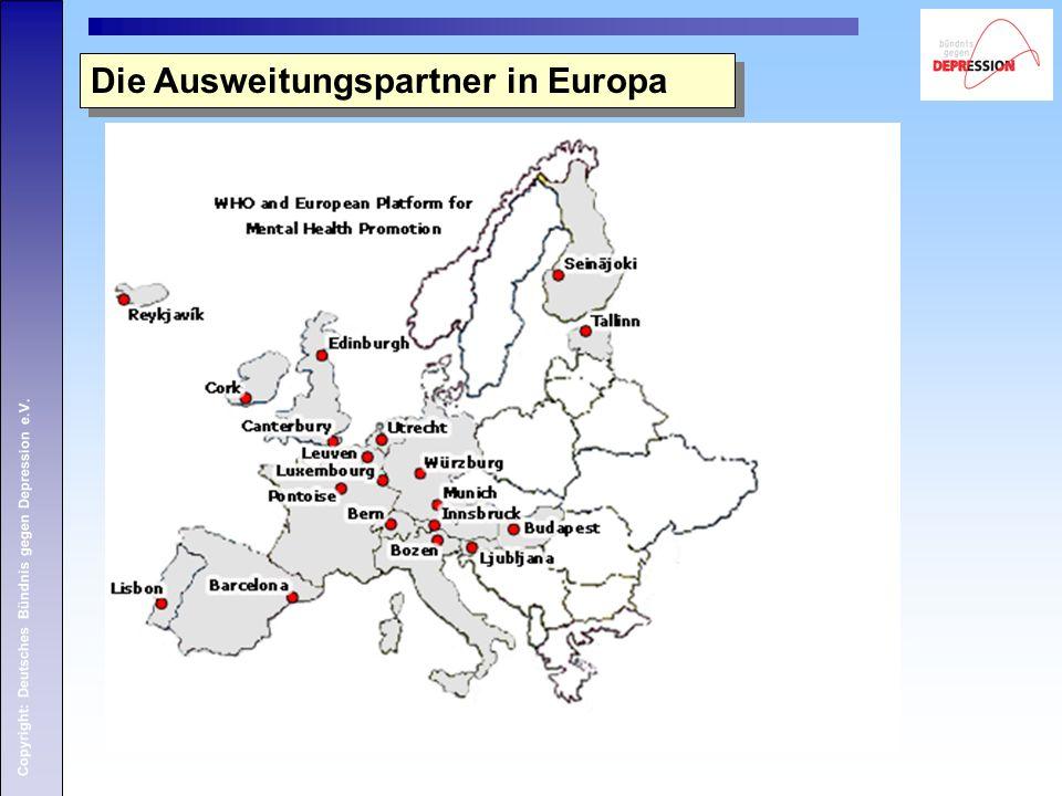 Copyright: Deutsches Bündnis gegen Depression e.V. Die Ausweitungspartner in Europa