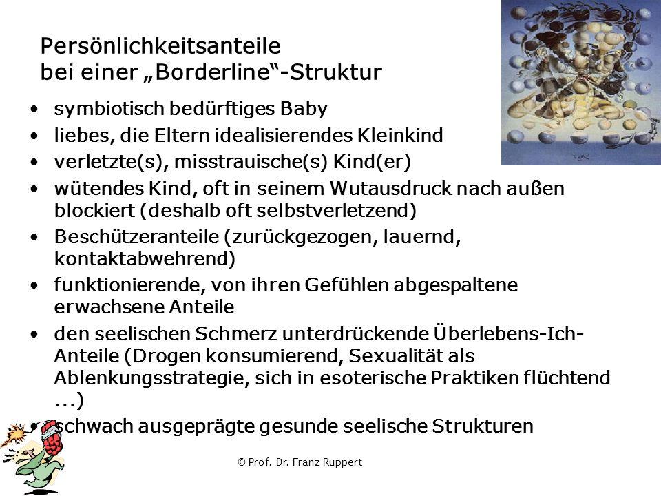 """© Prof. Dr. Franz Ruppert Persönlichkeitsanteile bei einer """"Borderline""""-Struktur symbiotisch bedürftiges Baby liebes, die Eltern idealisierendes Klein"""