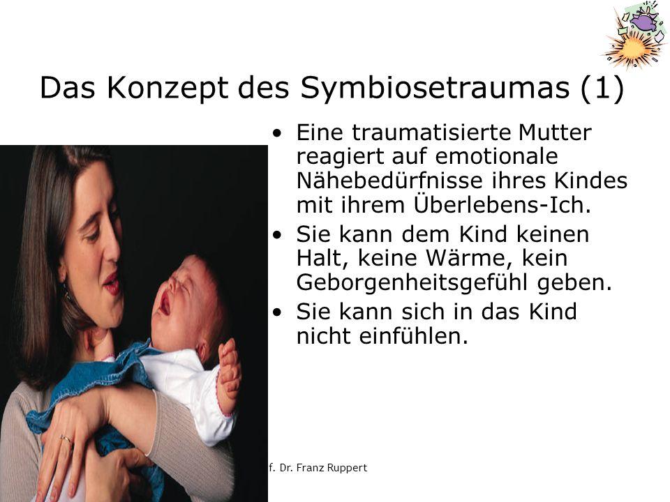© Prof. Dr. Franz Ruppert Das Konzept des Symbiosetraumas (1) Eine traumatisierte Mutter reagiert auf emotionale Nähebedürfnisse ihres Kindes mit ihre
