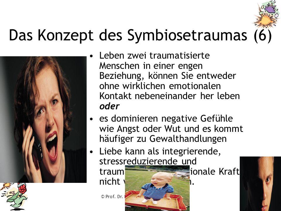 © Prof. Dr. Franz Ruppert Das Konzept des Symbiosetraumas (6) Leben zwei traumatisierte Menschen in einer engen Beziehung, können Sie entweder ohne wi