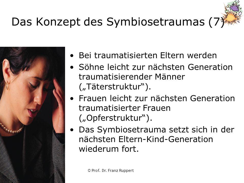 © Prof. Dr. Franz Ruppert Das Konzept des Symbiosetraumas (7) Bei traumatisierten Eltern werden Söhne leicht zur nächsten Generation traumatisierender