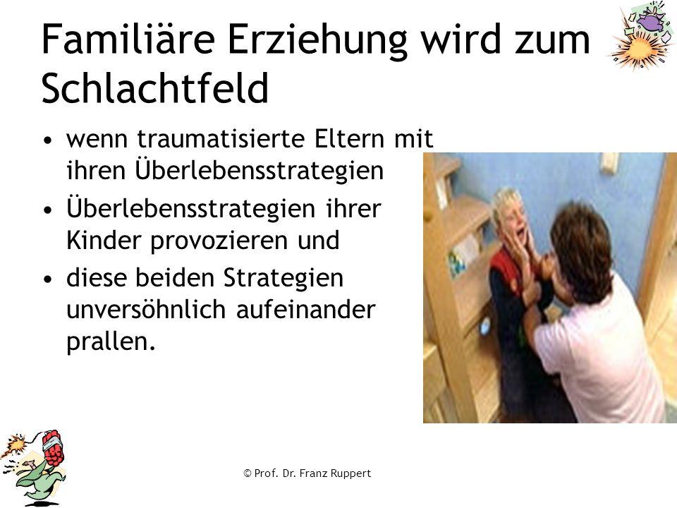 © Prof. Dr. Franz Ruppert Familiäre Erziehung wird zum Schlachtfeld wenn traumatisierte Eltern mit ihren Überlebensstrategien Überlebensstrategien ihr