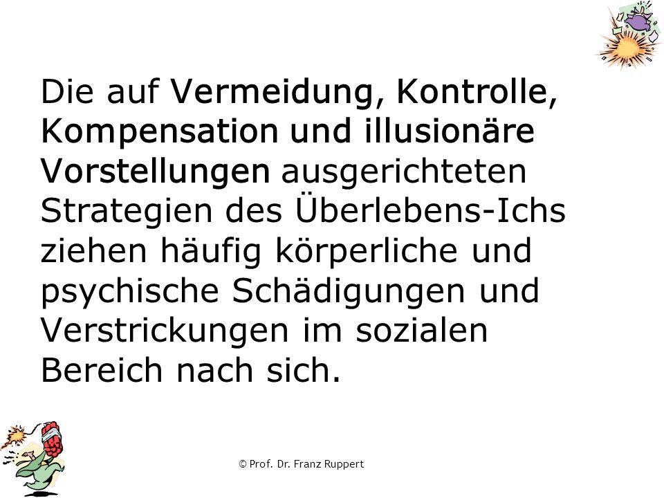 © Prof. Dr. Franz Ruppert Die auf Vermeidung, Kontrolle, Kompensation und illusionäre Vorstellungen ausgerichteten Strategien des Überlebens-Ichs zieh