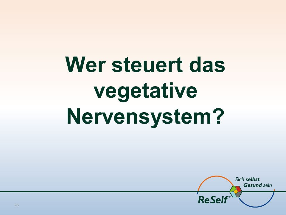 Wer steuert das vegetative Nervensystem 96