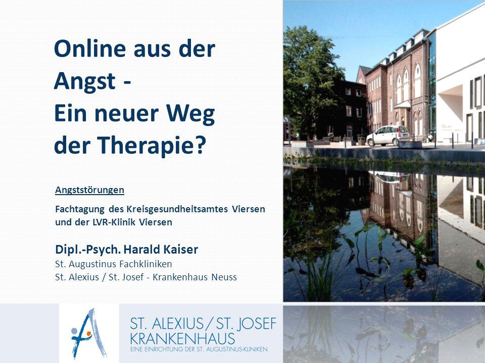Angststörungen Fachtagung des Kreisgesundheitsamtes Viersen und der LVR-Klinik Viersen Dipl.-Psych.