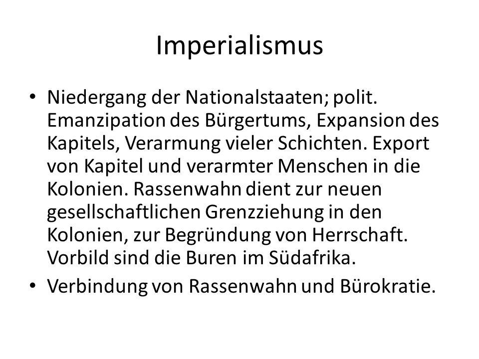 Imperialismus Niedergang der Nationalstaaten; polit.