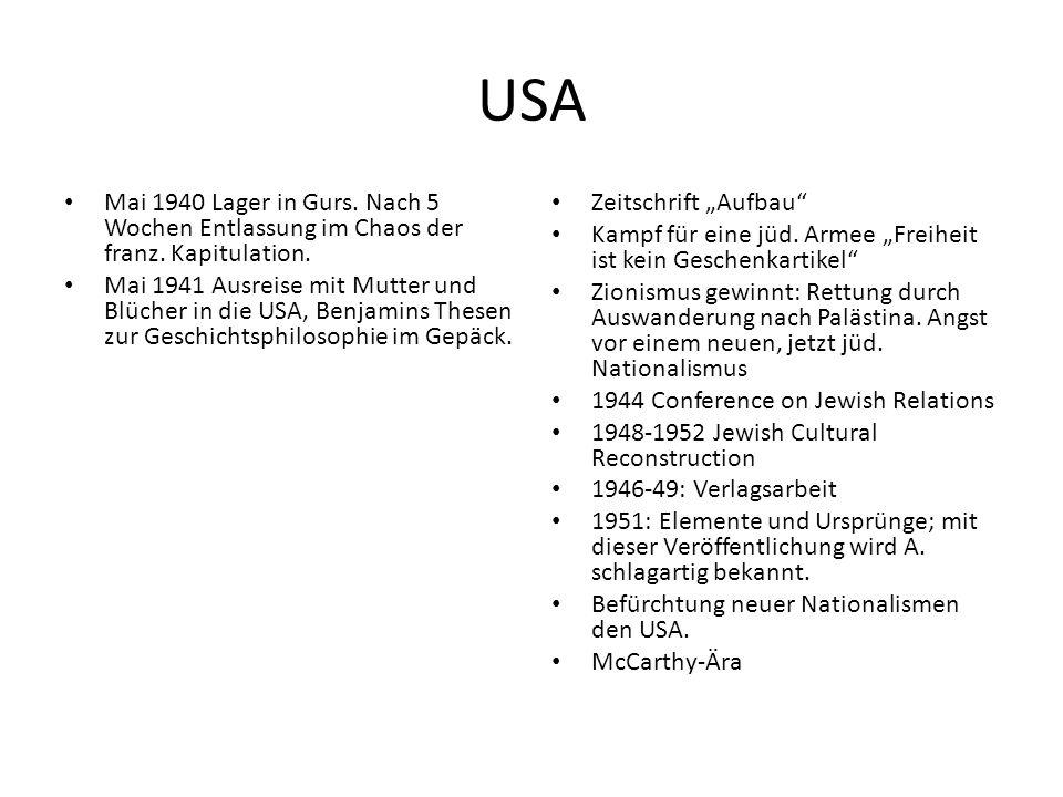 USA Mai 1940 Lager in Gurs. Nach 5 Wochen Entlassung im Chaos der franz.