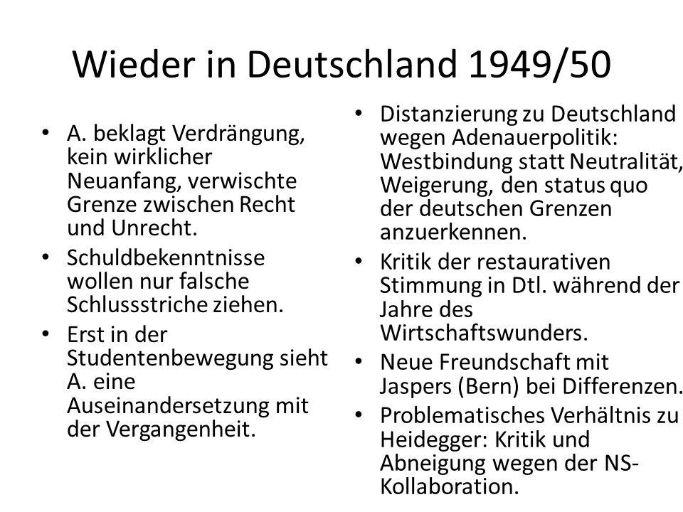 Wieder in Deutschland 1949/50 A.