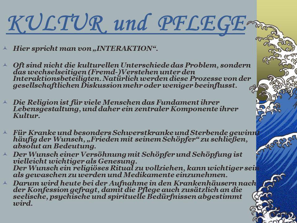 """KULTUR und PFLEGE Hier spricht man von """"INTERAKTION ."""