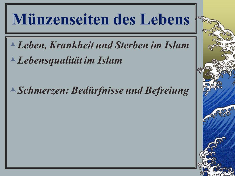 Münzenseiten des Lebens Leben, Krankheit und Sterben im Islam Lebensqualität im Islam Schmerzen: Bedürfnisse und Befreiung