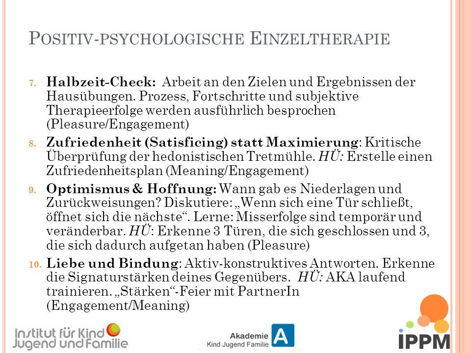 P OSITIV - PSYCHOLOGISCHE E INZELTHERAPIE 7.