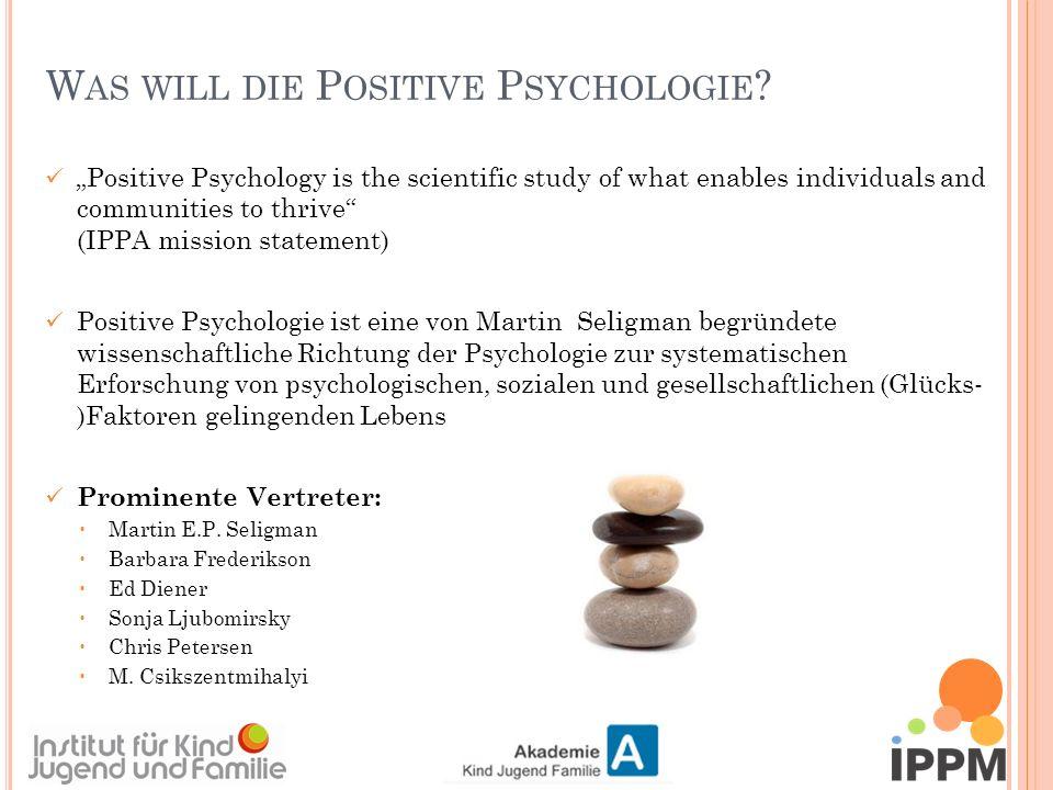 P OSITIV - PSYCHOLOGISCHE E INZELTHERAPIE 4.Gute vs.
