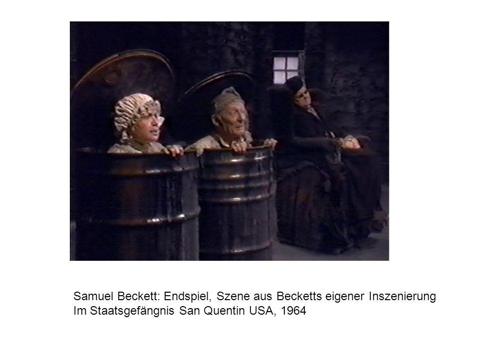 Samuel Beckett: Endspiel, Szene aus Becketts eigener Inszenierung Im Staatsgefängnis San Quentin USA, 1964