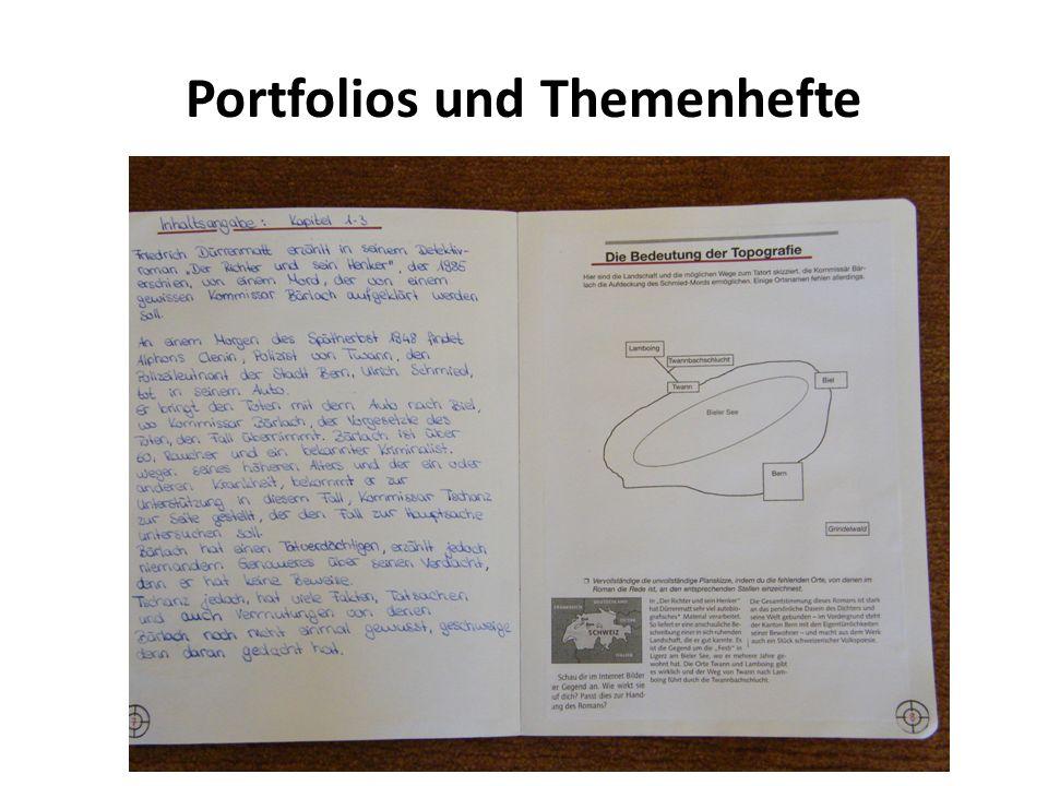 Portfolios und Themenhefte