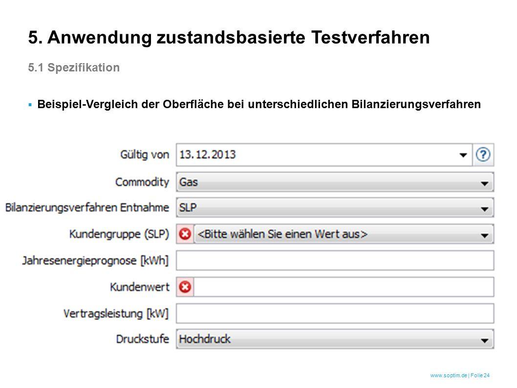www.soptim.de | Folie 24  Beispiel-Vergleich der Oberfläche bei unterschiedlichen Bilanzierungsverfahren 5.