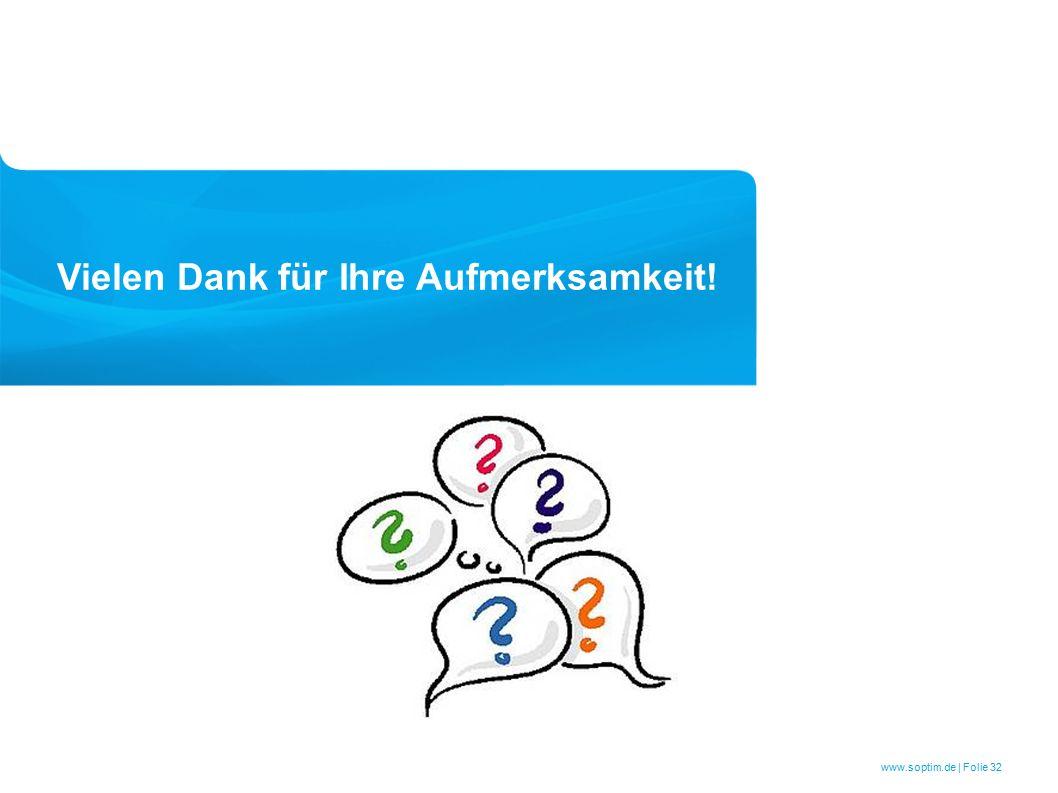 www.soptim.de | Folie 32 Vielen Dank für Ihre Aufmerksamkeit!