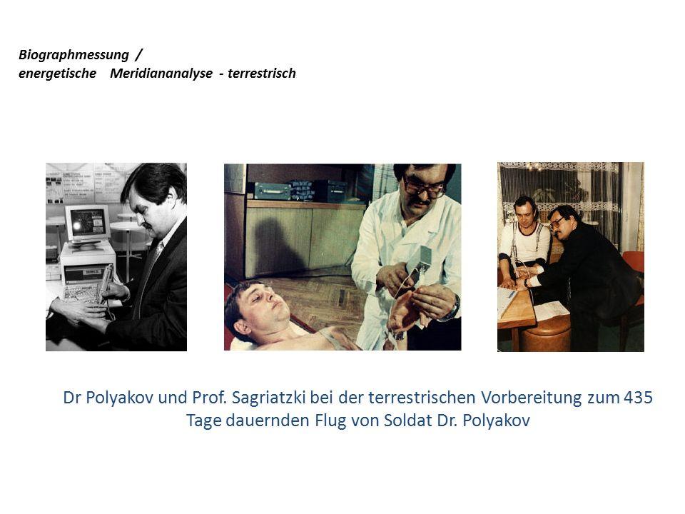 Biographmessung / energetische Meridiananalyse - terrestrisch Dr Polyakov und Prof.
