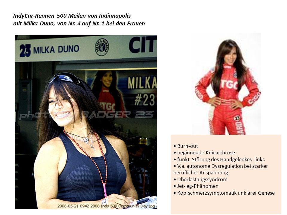IndyCar-Rennen 500 Meilen von Indianapolis mit Milka Duno, von Nr.