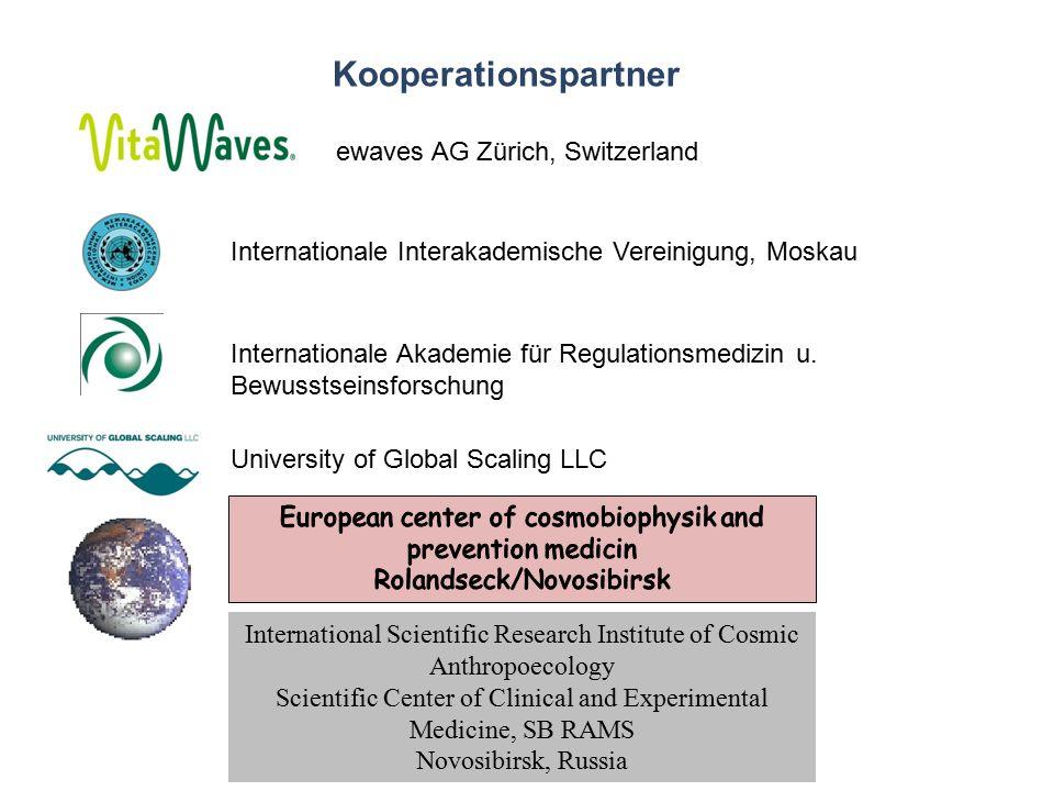 Kooperationspartner Internationale Interakademische Vereinigung, Moskau Internationale Akademie für Regulationsmedizin u.
