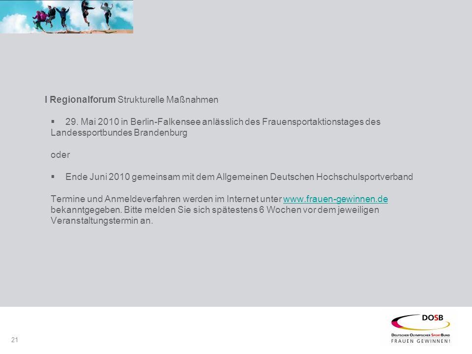 21 I Regionalforum Strukturelle Maßnahmen  29.