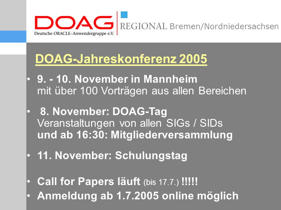 Bremen/Nordniedersachsen 9. - 10.