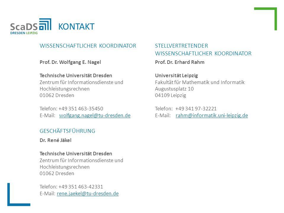 KONTAKT WISSENSCHAFTLICHER KOORDINATOR Prof. Dr. Wolfgang E.