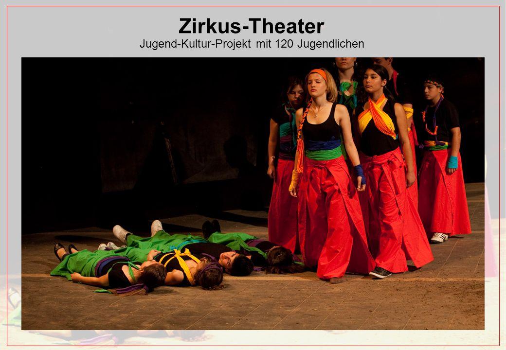 Zirkus-Theater Jugend-Kultur-Projekt mit 120 Jugendlichen