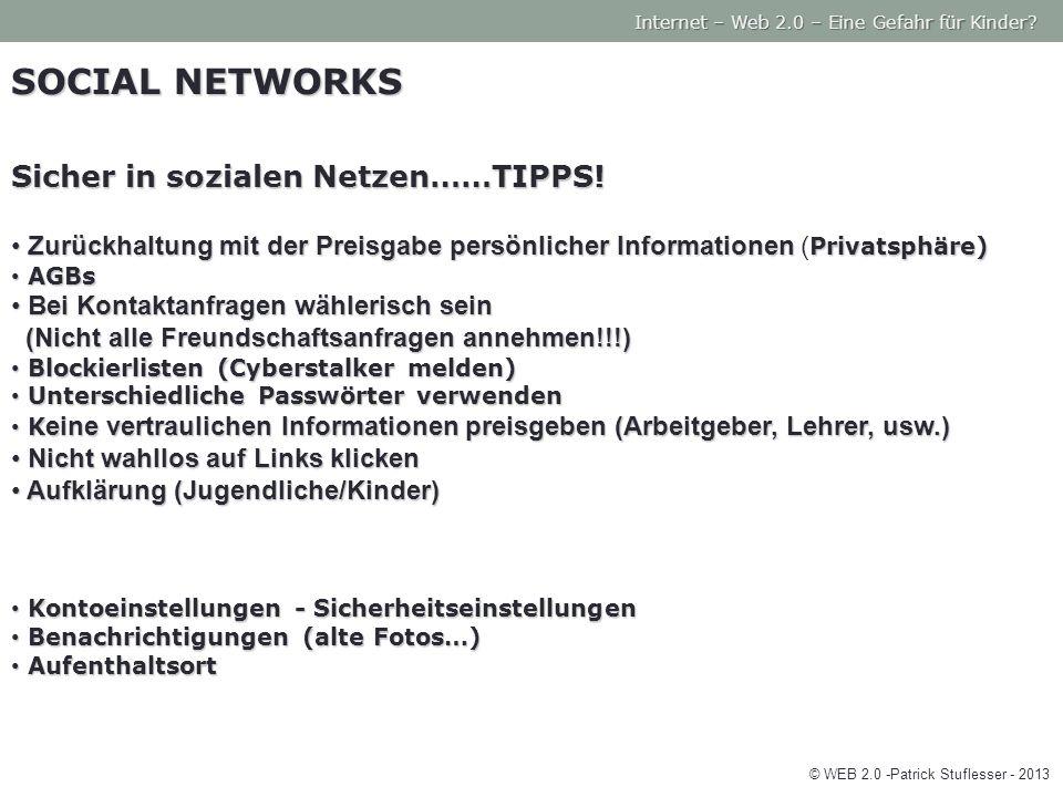 SOCIAL NETWORKS Sicher in sozialen Netzen……TIPPS.