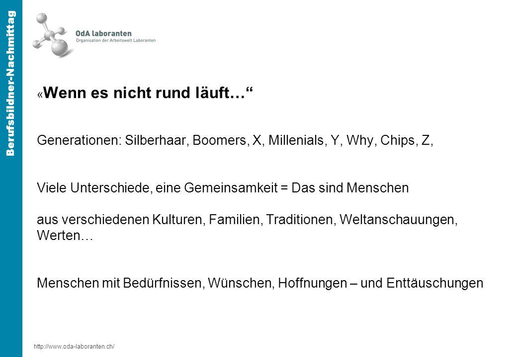 http://www.oda-laboranten.ch/ Berufsbildner-Nachmittag M « gesetzliche Aspekte