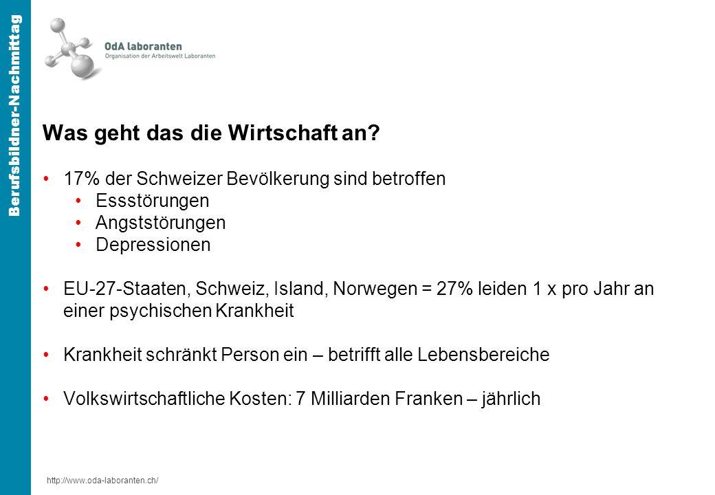 http://www.oda-laboranten.ch/ Berufsbildner-Nachmittag Was geht das die Wirtschaft an.