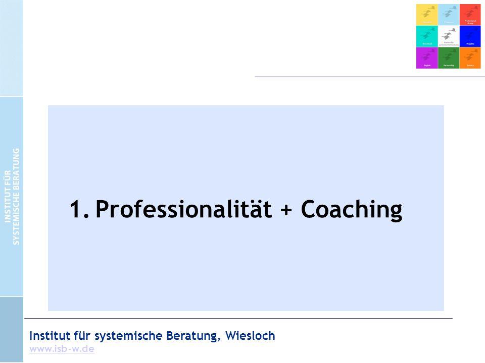 Institut für systemische Beratung, Wiesloch www.isb-w.de Coaching=4-Augen-Gespräch?