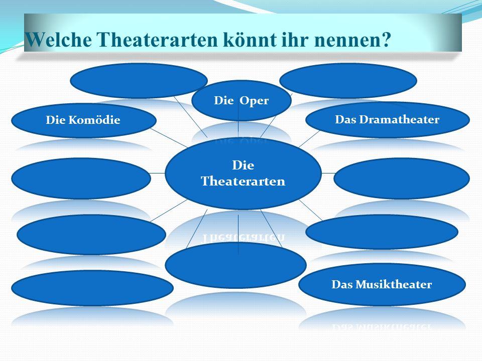 Welche Theaterarten könnt ihr nennen?
