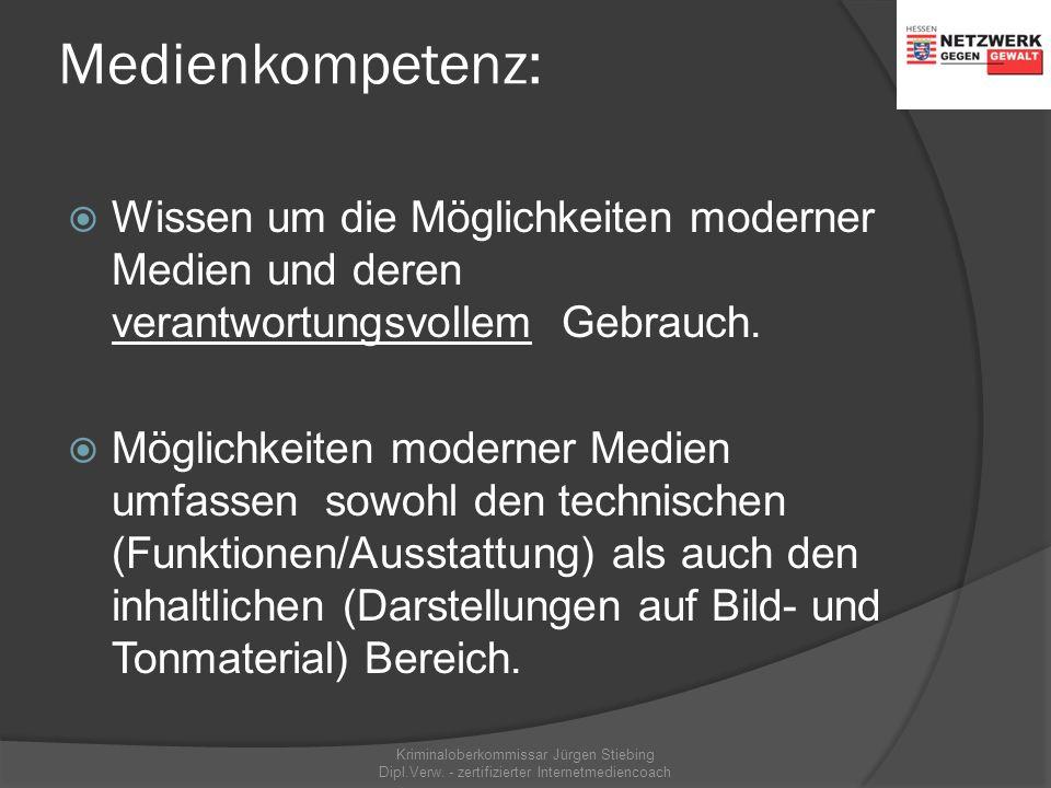 Medienkompetenz:  Wissen um die Möglichkeiten moderner Medien und deren verantwortungsvollem Gebrauch.