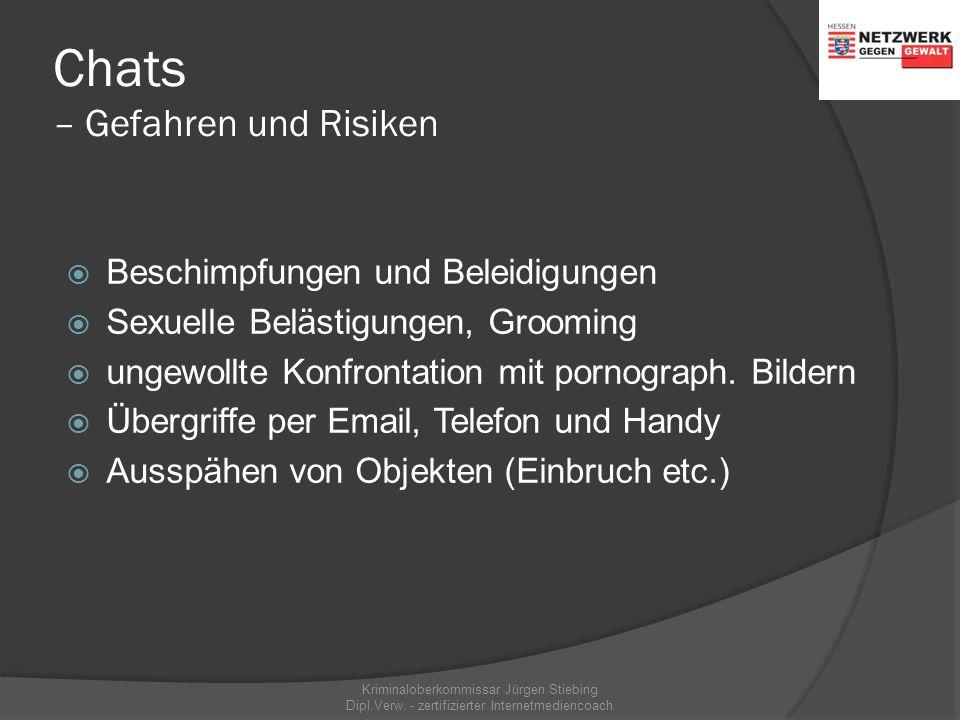 Chats Kriminaloberkommissar Jürgen Stiebing Dipl.Verw. - zertifizierter Internetmediencoach