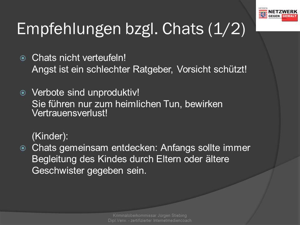 """Der Chat mit Fremden Filmsequenz: """"Grenzenlose Kommunikation?""""* Kriminaloberkommissar Jürgen Stiebing Dipl.Verw. - zertifizierter Internetmediencoach"""
